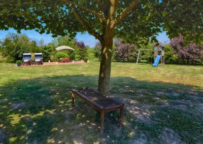 Der Garten des Elbhof Harnisch
